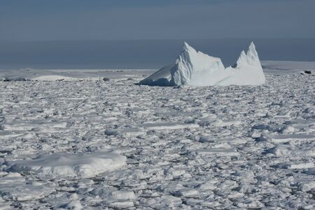 Iceberg in Antarctic Ocean  photo