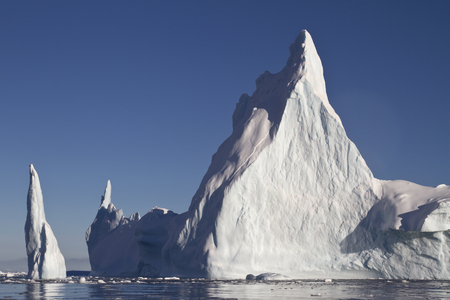 Pyramid iceberg with two peaks in Antarctic waters