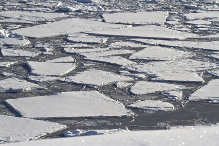 splintered: splintered ice field in Antarctic waters