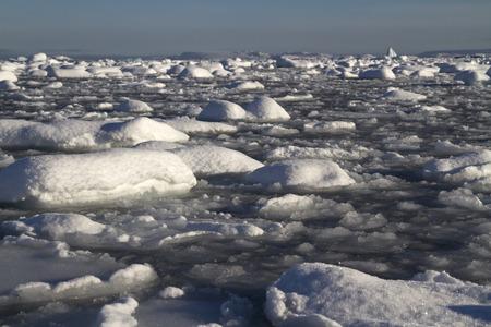 antarctic peninsula: Strait Pinola near the Antarctic Peninsula full of ice and small icebergs