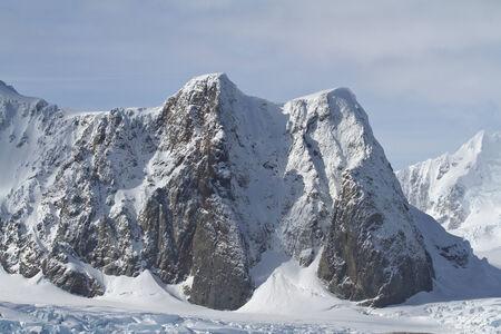 antarctic peninsula: mountains of the Antarctic Peninsula summer day