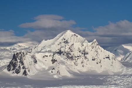 antarctic peninsula: Shackleton Mountain in the mountain range on the Antarctic Peninsula