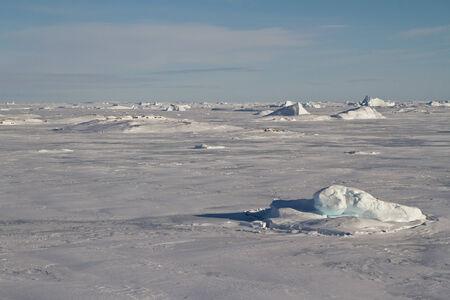 icy desert of Antarctica winter sunny day Фото со стока