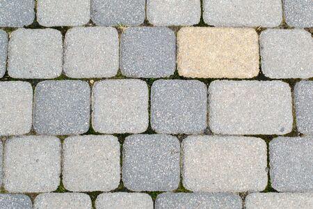テクスチャ。公園の石畳