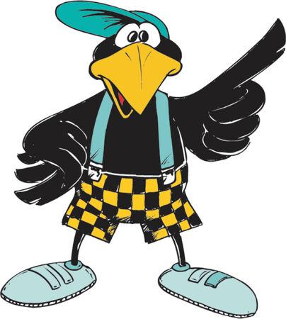 gentleman: Crow Illustration