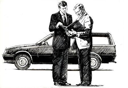 Car seller Stock Photo