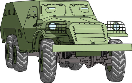 crosscountry: armored troop-carrier vector isolated on white background