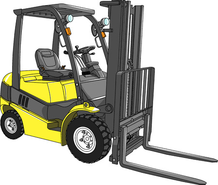 vector yellow loader isolated on white background Vector