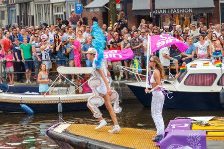 annual event: Amsterdam, Holanda - 02 de agosto 2014: evento anual para la protecci�n de los derechos humanos y la igualdad civil