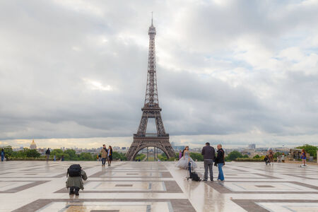 Paris, France - May 9, 2014: Trocadero, an observation deck. One of the most visited tourist destinations in Paris.