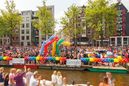 nederland: Amsterdam, Netherlands - August 2, 2014:  participants in the annual event for the protection of human rights and civil equality. Editorial