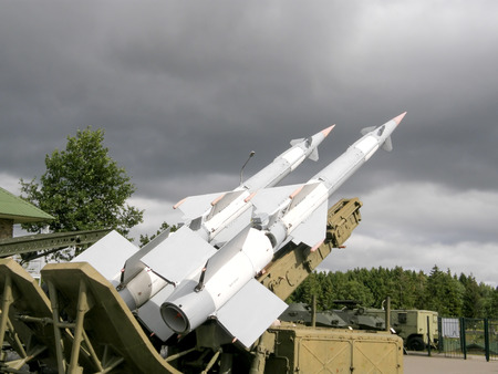 all weather: Minsk, Belarus - August 11, 2012: Antiaircraft missile complex near Minsk.