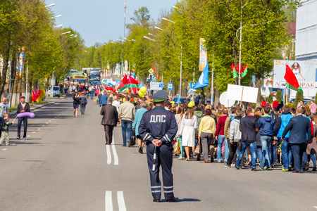 invaders: Molodechno Belarus May September 2015: The celebration of the victory over fascist invaders on May 9 in the town of Molodechno Belarus.