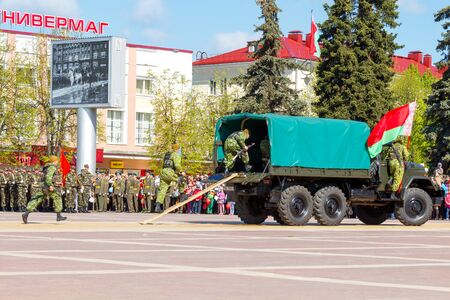 invaders: Molodechno Belarus  May 9 2015: The celebration of the victory over fascist invaders on May 9 in the town of Molodechno Belarus. Editorial