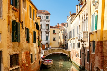 modes: Venice, Italy - May 24, 2015: Water taxi in Venice. Boat taxis in Venice, one of the most popular and user-friendly modes of transport in the city.