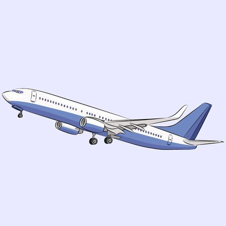 passenger aircraft: Passenger aircraft with turbine isolated on a white background.