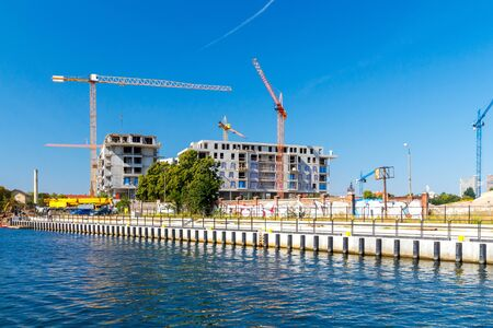 residential construction: Construction of a residential complex on the banks of the Old Motława in Gdansk.