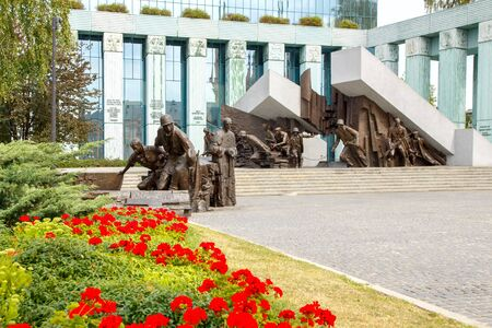 insurrection: Warsaw, Poland - July 25, 2015: The museum in Warsaw dedicated to Warsaw Uprising in 1944 against the Nazi occupiers. Editorial