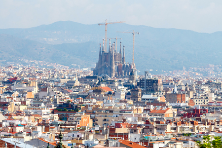 montjuic: View of Barcelona from the heights of Montjuic.