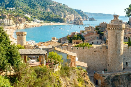 costa brava: The famous resort of Tossa de Mar on the Costa Brava.