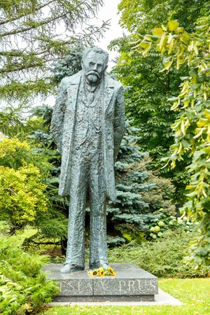 publicist: Warsaw, Poland - July 26, 2015: Monument to the famous Polish writer and publicist Boleslaw Prus in Warsaw. Editorial