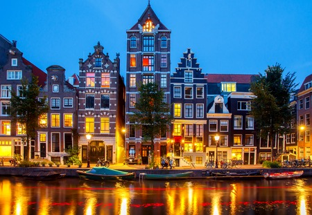typically dutch: Canals of Amsterdam. Favorite place for walking and leisure travelers.