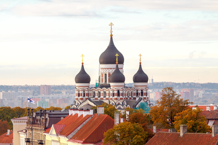 alexander: Alexander Nevsky Cathedral. One of the main attractions of Tallinn. Stock Photo