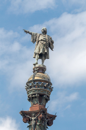 christopher: Christopher Columbus monument on the central promenade of Barcelona.