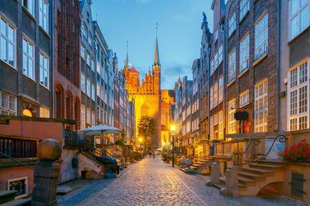 honeymooners: Mariacka Street in Gdansk. Old medieval street is very popular among honeymooners and tourists.