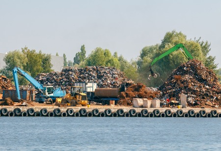 disassembly: Polygon disassembly of scrap in the seaport of Gdansk.
