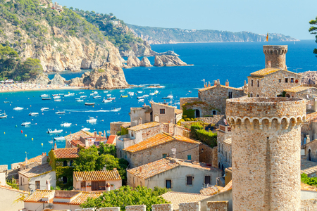 The famous resort of Tossa de Mar on the Costa Brava.