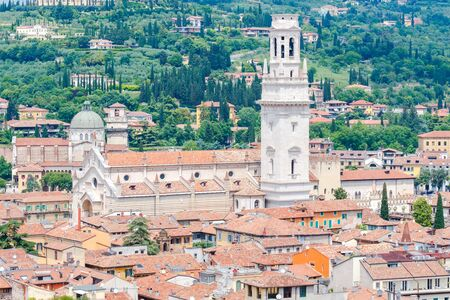 reference point: View of Verona from the Lamberti tower height.