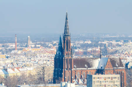 reference point: Wroclaw view from the observation deck of the Cathedral of St. John.