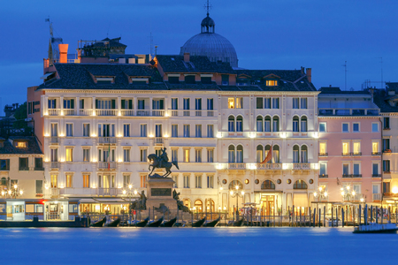 mol: View of the main embankment of the Venetian night. Stock Photo