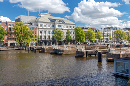 amstel: Regulating the water in the river Amstel city gateways. Amsterdam. Netherlands.