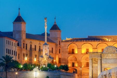 dark alley: Mezquita Mosque - Catedral de Cordoba at night, Cordoba, Andalusia, Spain
