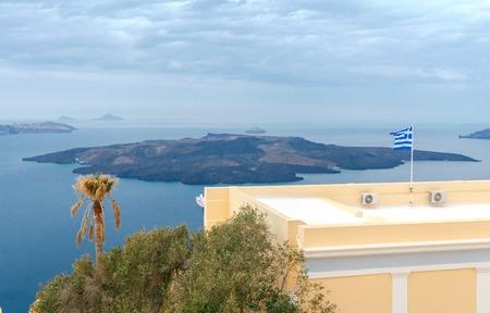 tera: View of the island of Nea Kameni from Fira.