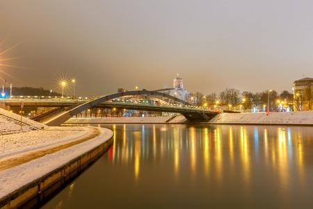 Vilnius. Mindaugas Bridge across Neris.