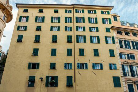Traditional architecture in Genoa.