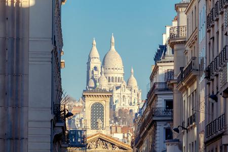 coeur: Paris. Sacre Coeur Basilica. Stock Photo