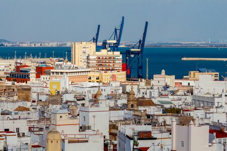 View of the historic center of Cadiz from the observation deck.