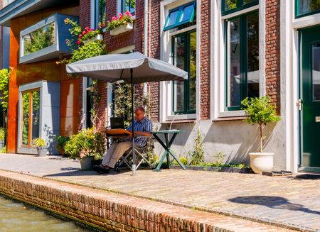 Utrecht. Traditional Dutch city canal.