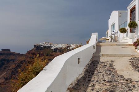 Fira. Traditional architecture of Santorini.