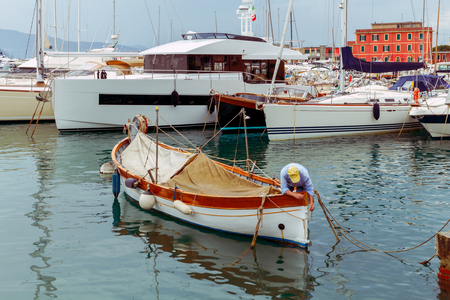 mol: Saint Margherita Ligure. Old Harbor.