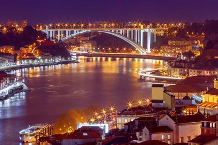 Porto. The car bridge over the Douro River.