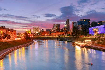 Vilnius. The river Vilia.
