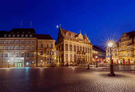 Bremen. The central market square.