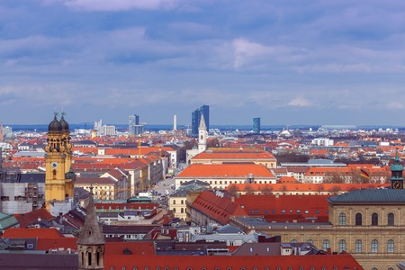 Aerial view of Munich.