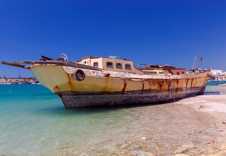 Malta. Marsachlokk. The old ship.