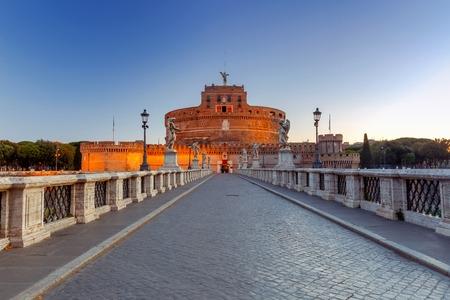 tiber: Rome. Castel SantAngelo.